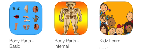 Kidz Learn Body Parts Basic and Internal