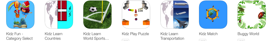 Kidz Fun Countries Sports PuzzleVehicles Match and Bugs