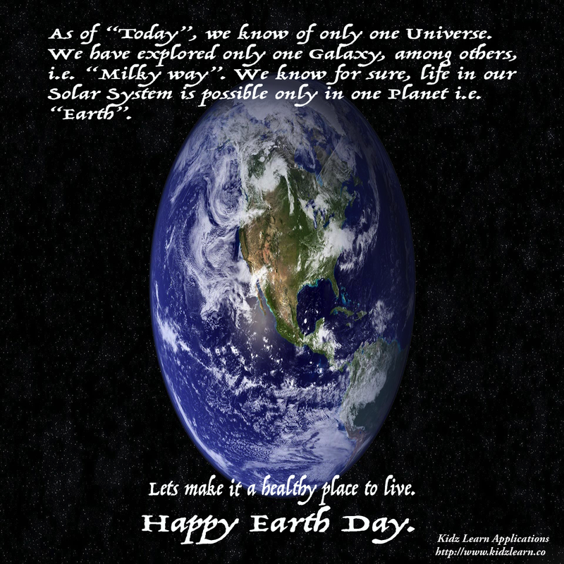 Earth Day Quote 2 from Kidz Learn Applications